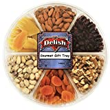 Gourmet Fresh Nuts & Dried Fruit Variety Large Gift Tray 6-Section Healthy Choice by Its Delish Review