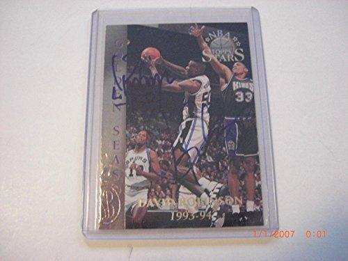 David Robinson Dennis Rodman San Antonio Spurs Scoreboard/stamp Signed Card - Basketball Autographed Cards (Basketball Autographed Robinson)