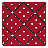 Sweet Jojo Designs Red and White Polka Dot Ladybug Fabric Memory/Memo Photo Bulletin Board