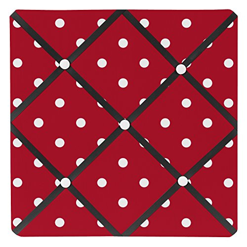 Sweet Jojo Designs Red and White Polka Dot Ladybug Fabric Memory/Memo Photo Bulletin Board ()