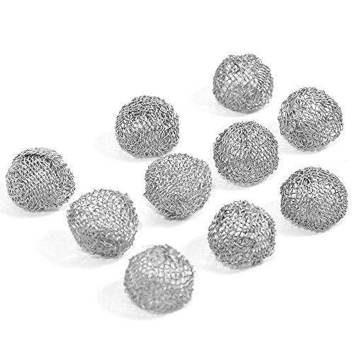 Newkiton 10Pcs/Set Tobacco Pipe Screen Metal Ball Filter Combustion 17mm by Newkiton