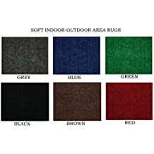 Light Weight Indoor-Outdoor Area Rugs for Balcony, Deck, Gazebo, Patio, Lawn, Trade-Show, Booth, etc. (Many colors and sizes to choose from) (9' x 12', Red)