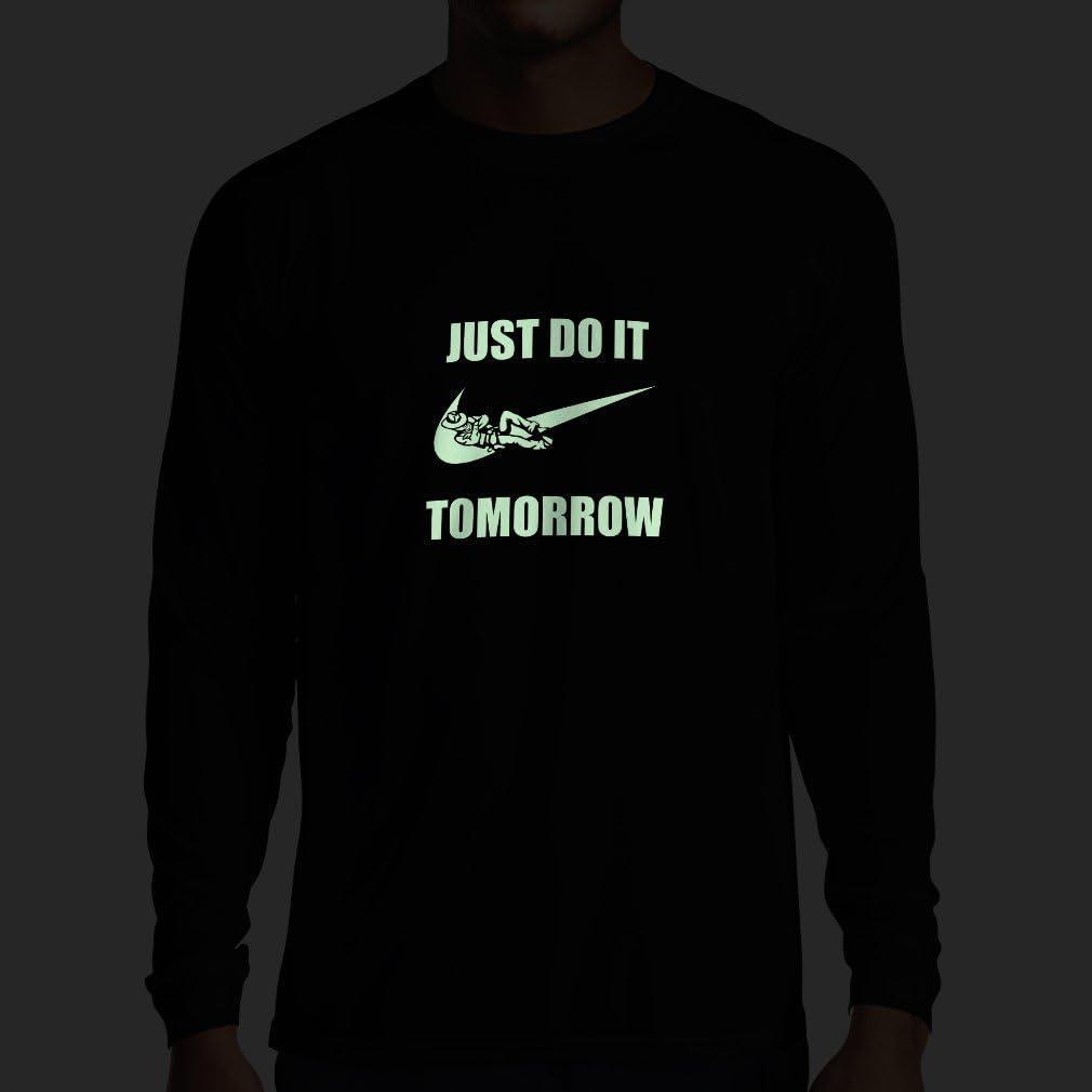 lepni.me Camiseta de Manga Larga para Hombre Solo hazlo ma/ñana motivaci/ón del Entrenamiento Frases Divertidas de la Parodia.