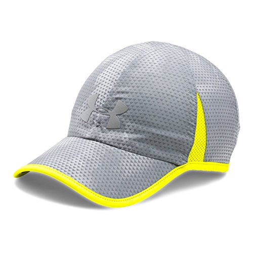 Under Armour Men's Shadow 4.0 Run Cap, Overcast Gray/Yellow Ray, One Size