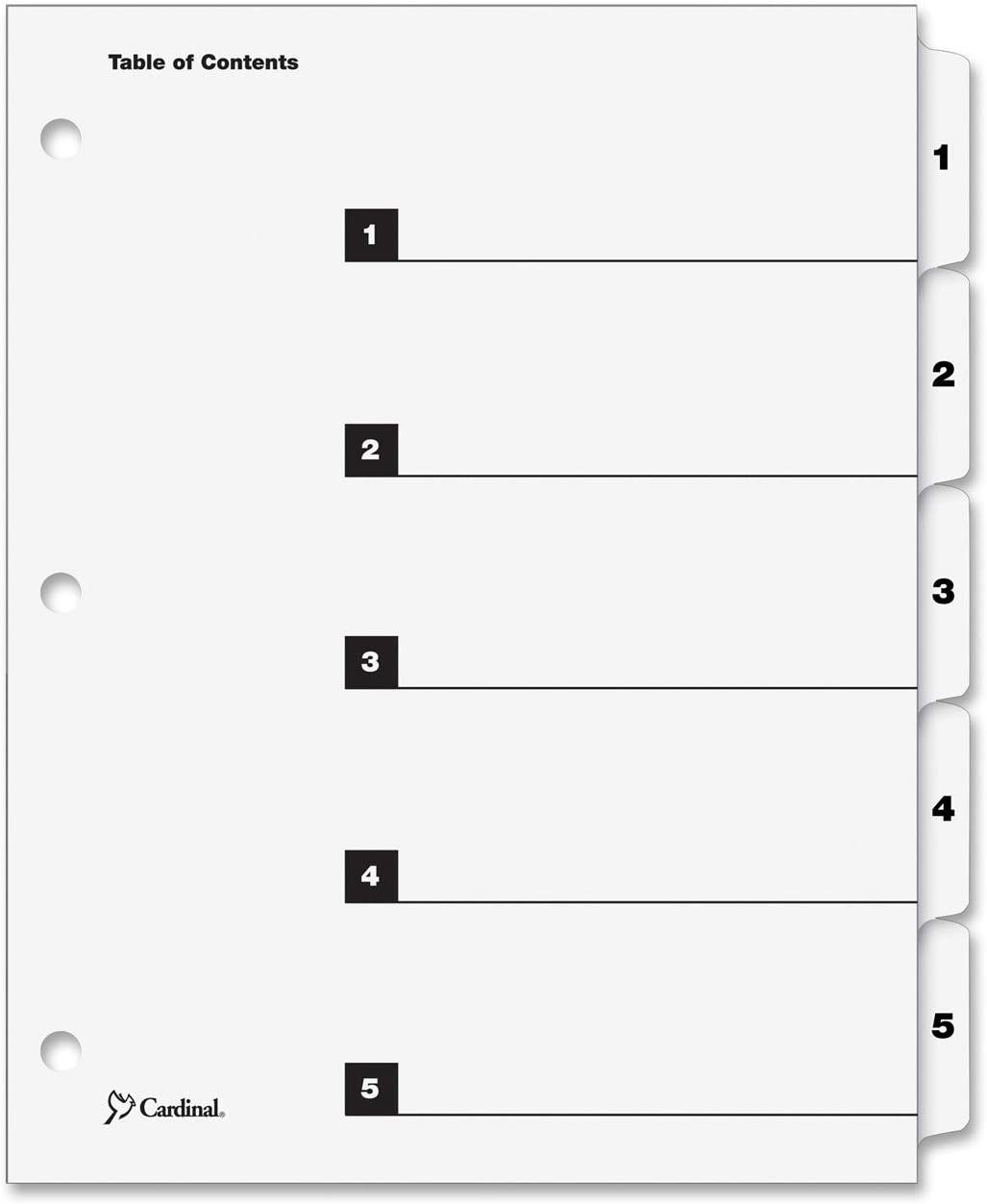 - 3 Pack Monthly 1 Set Cardinal OneStep Index System 12-Tab Multi-Color 60318CB
