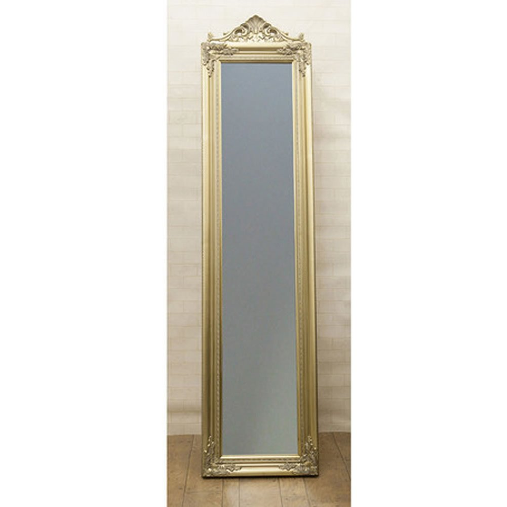 鏡 アンティーク調 チャーチルウッド フルレングスミラー ゴージャス:int-ak-cm15-003cyj (ゴールド) B01CDURD2M ゴールド ゴールド