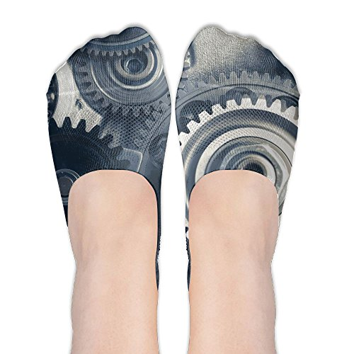 Clock Watch Time Gear Novelty Womens Athletic Non Slip Ankle Compression Low Cut Loafer Socks For Yoga Train Hiking Cycling Running Sports - Gear Singapore Running