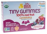 Little Duck Organics Tiny Gummies with Probiotics Lunchbox, Blueberry Acai/Pomegranate, 5 Count (Pack of 6)