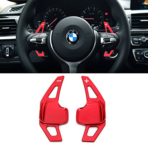 For BMW Paddle Shifter Extensions,Jaronx Aluminum Metal Steering Wheel Paddle Shifter(Fits: BMW 2 3 4 i8 X1 X2 X3 X4 X5 X6 series,F Chassis)-Red