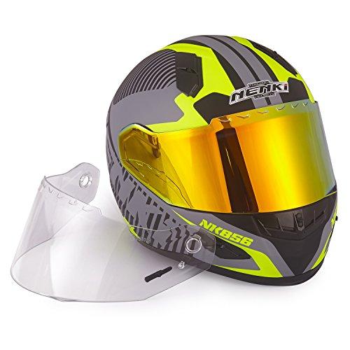 Motorcycle Helmet Yellow - 4