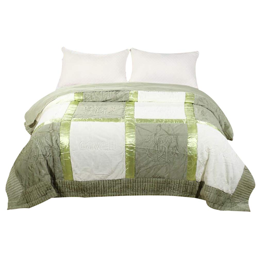 HSBAIS ソフト毛布 小さい毛布キングサイズ - 寝具赤ちゃん大人のための暖かい冬毛布豪華な豪華な暖かいシート洗えるラッシェル毛布,green_220*240cm, B07K75CYT1 Green 220*240cm,