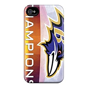 Awesome Design Baltimore Ravens Hard Case Cover For Iphone 4/4s