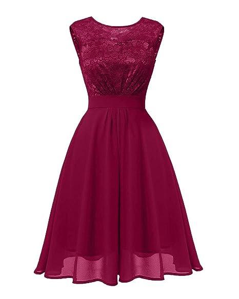 Lorie Womens Short Floral Lace Bridesmaid Dress Formal