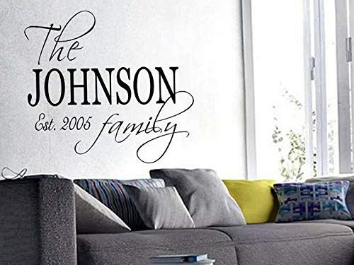 Waldenn Family Name EST. Personalized Wall Art Decal Quote Words Lettering Decor 40x23 | Model DCR - -