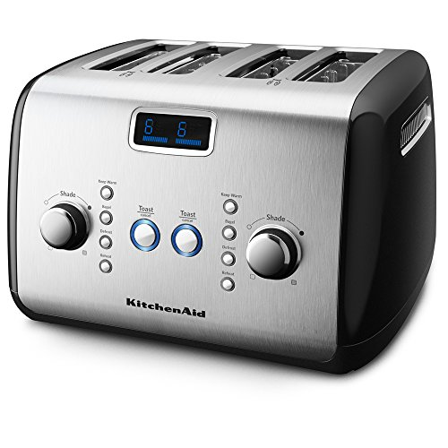 KitchenAid KMT423OB 4-Slice Toaster with One-Touch Lift/Lower and Digital Display - Onyx Black (Kitchenaid Black Toaster Oven compare prices)