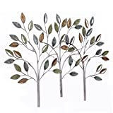 Home's Art Wall Decorative Inspire Comes from Leaves Metal leave Colorful
