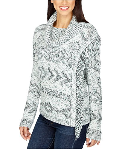 Lucky Brand Women's Cowl-Neck Fringe Sweater (X-Large, Multi) by Lucky Brand