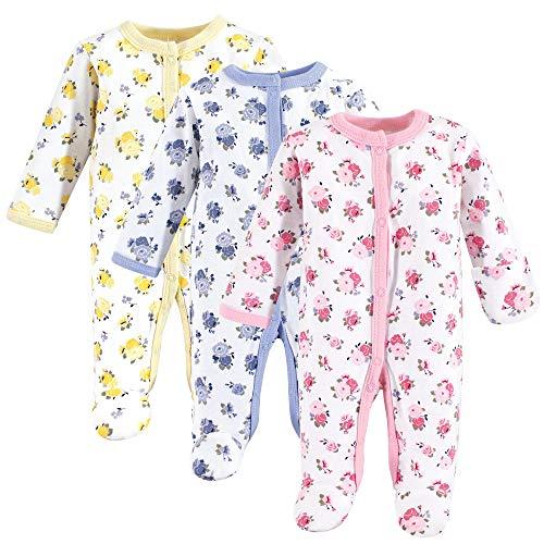 (Luvable Friends Baby Preemie Sleep and Play, 3 Pack, Floral,)