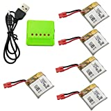 Fytoo 5PCS 380mah Lithium Battery &1pcs 5 in 1 Battery Charger for SYMA X21 X21W Helicopter Spare Parts Drone Battery