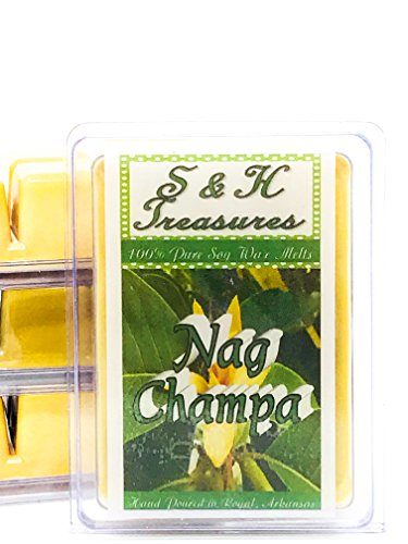 Nag Champa - Pure Soy Wax Melts - Essential Oil - 1 pack (6 cubes)