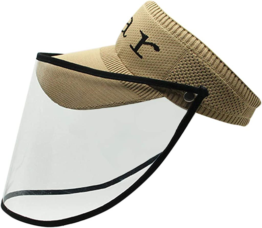 TTlove Anti Saliva Splash Baseball Cap Sun Protection Protective Hat Outdoor Windproof Hat Adjustable Bucket Hat with Full Face Removable Face Shield Anti-dust Fisherman Hat for Men /& Women Kids