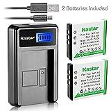 Kastar Battery (X2) & LCD Slim USB Charger for Kodak KLIC-7004 K7004 NP-50 D-Li68 and EasyShare M2008 V1273 V1233 V1253 Zi8 Zi12 PlayFull Dual PlaySport PlayTouch Q7 Q10 Q-S1 Ricoh WG-M2 Camera