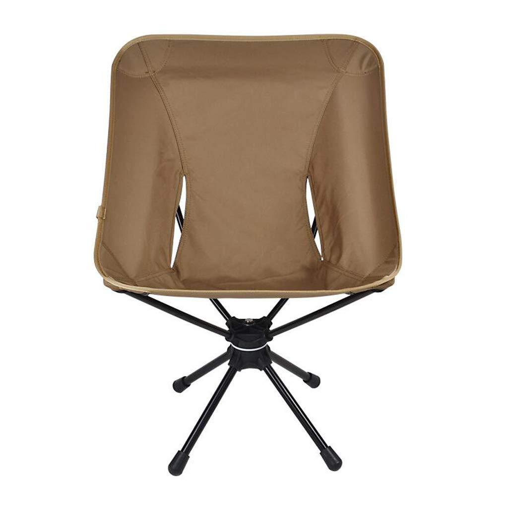 屋外折りたたみ椅子360度回転ポータブル釣り椅子、アルミ合金素材は超軽量、オプションで4色 JSFQ (Color : Brown) B07T3Q9HT6 Brown