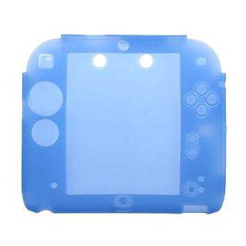 Malloom Suave de Silicona Caso Goma Parachoques Gel Piel Cubierta Protectora Funda para Nintendo 2DS (Azul)