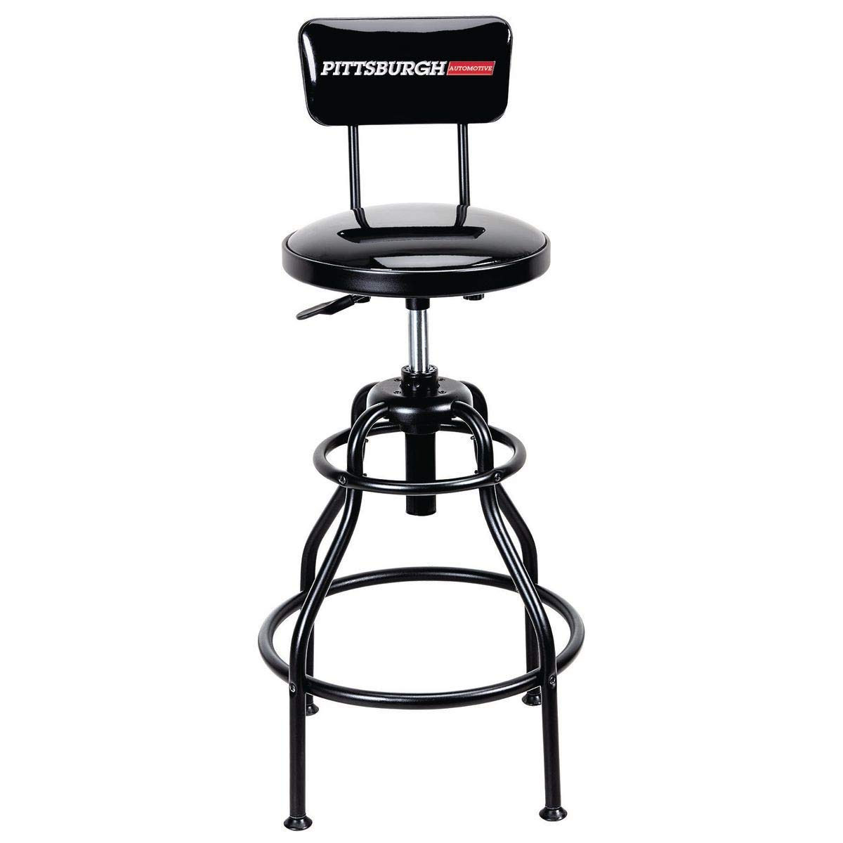 Adjustable Shop Stool with Backrest 275 lb Capacity