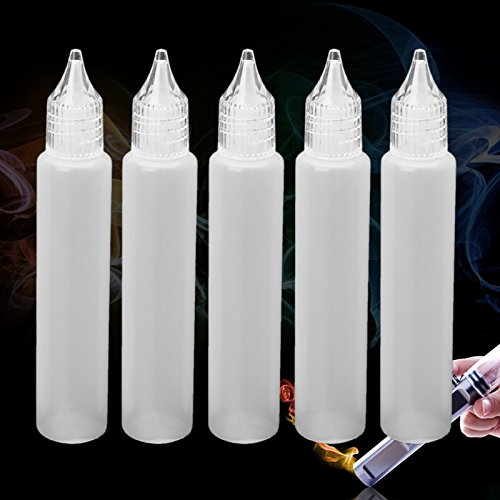 (Goodqueen 5 A pack of 30ml crystal head unicorn electronic cigarette oil bottle duck PE tip mouth oil bottle drop bottle)
