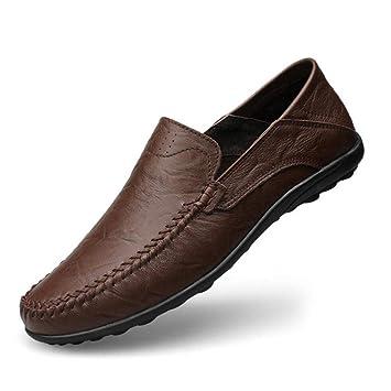 HhGold Mocasines de Confort para Hombre Mocasines de Cuero de Primavera/Verano/otoño con Cordones y Zapatillas sin Cordones, Zapatos para Correr, ...