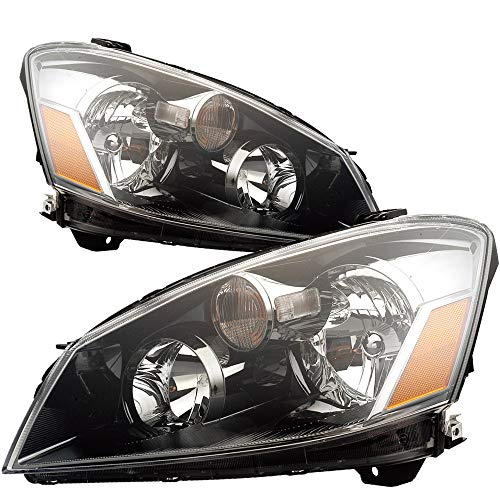 For 2005 2006 Nissan Altima Headlight Headlamp Assembly Driver Left and Passenger Right Side Pair Set Replacement NI2502156 NI2503156