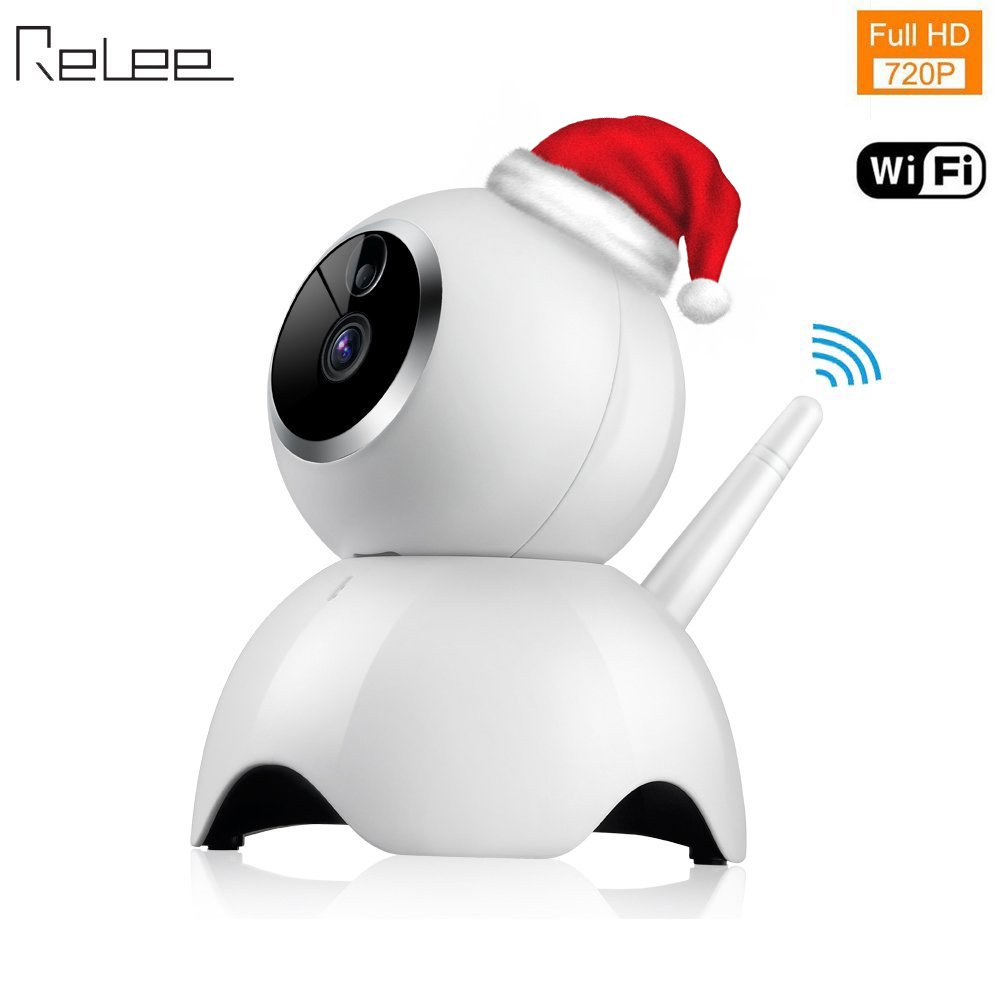 Relee IP WiFi camera 720P HD baby monitor with camera and audio Wireless Security Camera Surveillance Night Vision Camera (white)