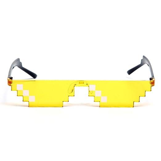 Onnea fashion 8 Pack Thug Life Pixelated Mosaic Party Favors Unisex Fun Sunglasses