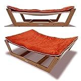 Bed Hammock Pet Bed - 35.5 by 26.25 by 9-Inch - Tangerine Orange
