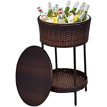 Amazon Com Keter 7 5 Gal Cool Bar Rattan Style Outdoor