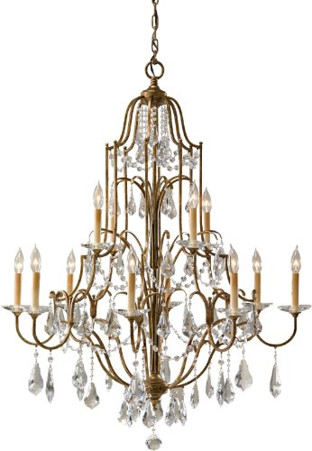 Feiss F2479 8 4OBZ 12 Light Chandelier,