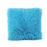 Becoler Home Decorative Super Soft Plush Fake Fur Throw Pillow Cover Cushion Case Home Decor (Sky Blue, 18 x 18 inch)