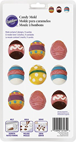 (Wilton 2115-0165 Easter Eggs Truffle Candy Mold, Multicolor)