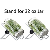 Stainless Steel Sprouting Kit for Mason, iPad & Phone. Include Sprouting Stands & Sprouting Lids, Used to make Sprouts, Broccoli, Lentil Seeds. - 2 Set