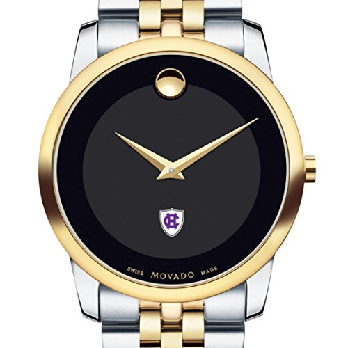 Holy-Cross-Mens-Movado-Two-Tone-Museum-Classic-Bracelet