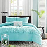 Difference Between Full and Queen Bed Turquoise, Blue, Aqua Girls Full / Queen Comforter Set (4 Piece Bed In A Bag)