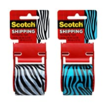 Scotch Decorative Shipping Packaging Tape, 1.88 x 500 Inches, 6 Rolls (141-PRTD8)