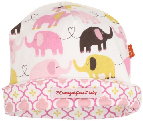 Free Magnificent Baby Baby-Girls Newborn Reversible Cozy Cap, Elephant/Marrakesh, One Size