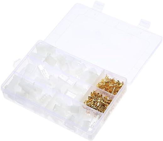 Total 380 UNIDS/Caja 40 Conjuntos de Terminales de Alambre de Pin de Coche de Motos Eléctrico 2.8mm 2/3/4/6 con Caja de Almacenamiento: Amazon.es: Bricolaje y herramientas