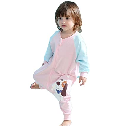 LINAG Infantil Sacos Dormir Anti-patada Edredón Bebé Swaddling Conjoined Piernas Jumpsuit Primavera Otoño Durante