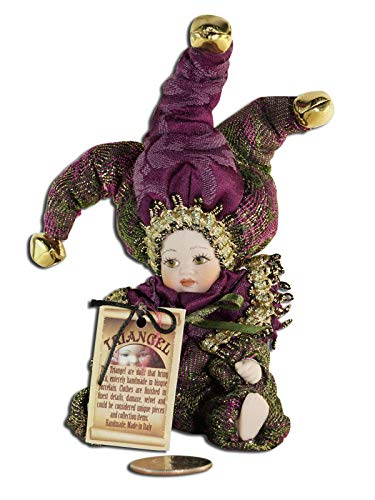 - Authentic Handmade Venetian Bisque Porcelain Doll Triangel Small (Dark Purple)