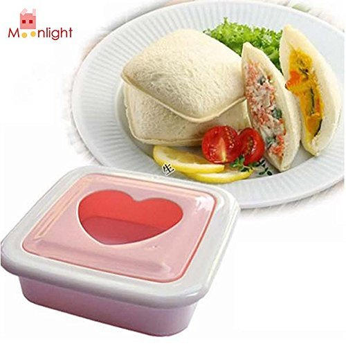 Love Heart Shape Sandwich Bread Toast Maker Mold Mould Cutter DIY Tool