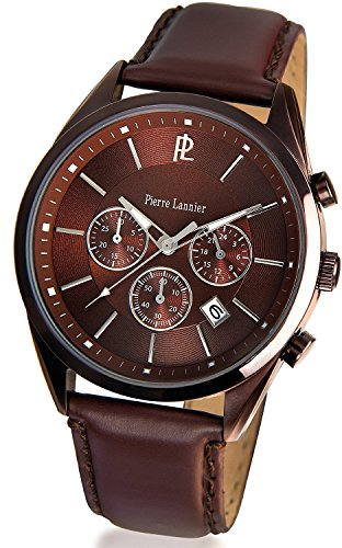 PIERRE LANNIER Chronograph Watch Brown P276B494 Men's [regular imported goods]