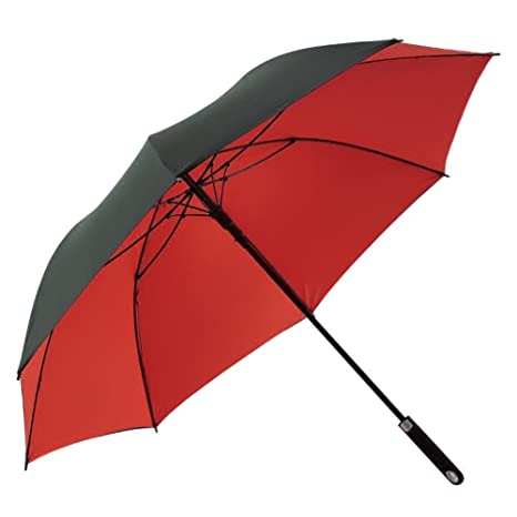Doble capa Paraguas a prueba de viento,Hombre Automático Paraguas del palillo,Business Paraguas